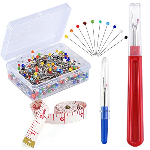 Great Deal! Pllieay 250 Pieces Sewing Pins 38mm Multicolor Glass Ball Head Pins Straight Quilting Pi...