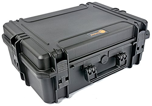 Elephant Elite EL1907 Case with Foam for large D-slr Cameras with lenses, audio and Video Equipment, Guns, Waterproof Hard Plastic Case (Nylon Hard Gun Case)