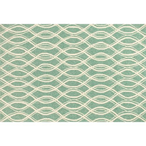 Loloi Rugs, Venice Beach Collection - Turquoise/Ivory Area Rug, 2'-3