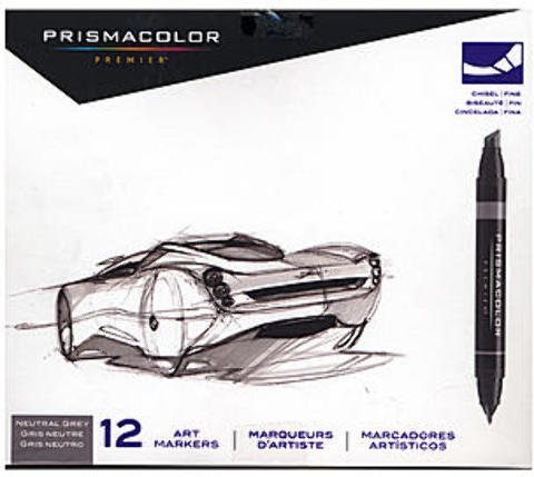 Prismacolor Marker Sets (Neutral Grey Set) 1 pcs SKU# 1832860MA by Prismacolor
