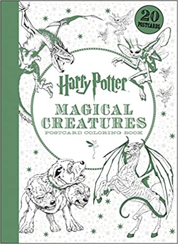 Harry Potter Magical Creatures Postcard Coloring Book Scholastic 9781338054590 Amazon Books
