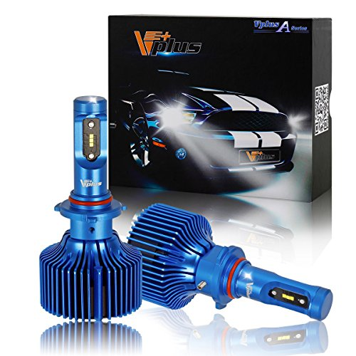 Vplus A Series LED Headlight Bulbs w/Clear Arc-Beam Conversion Kit -9006 HB4 90W 8,400LM 6500K White Seoul w/No Fan Headlamp Adjustable Light Pattern LED Replace HID&Halogen -2 Yr Warranty(2pcs/set) (Head Lights 2003 Chevy Impala compare prices)