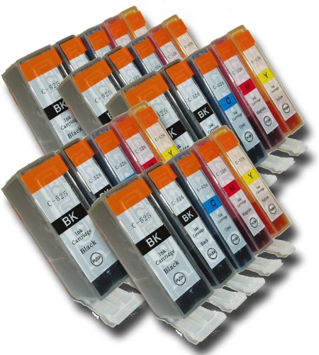 Price comparison product image The Ink Squid 25 Chipped Compatible High-Capacity Canon PGI-525 & CLI-526 Ink Cartridges for Canon Pixma MG5250