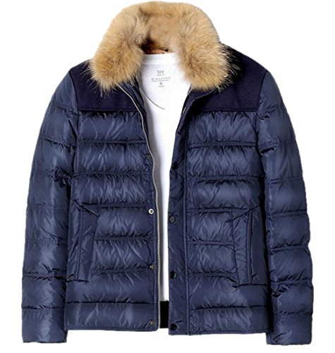 Down Faux Fur Hot Collar Winter Coats Brd UK Men's Puffer Jacket Warm Parka S 2 8g8Pr0U