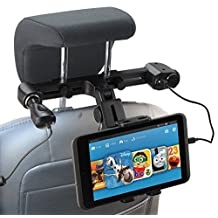 Navitech USB port 4.2A headrest mount with integrated car charger for the Asus MeMO Pad 10 ME103K / Transformer Pad TF103