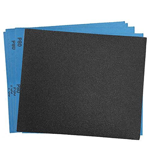 80 Grit Dry Wet Sandpaper Sheets by LotFancy - 9 x 11