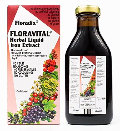 Floradix Formula Iron - Floradix Floravital Liquid Iron Formula Mineral, 500 ml