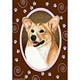 Best of Breed Pink Paws Garden Flag – Tan and White Pembroke Welsh Corgi For Sale