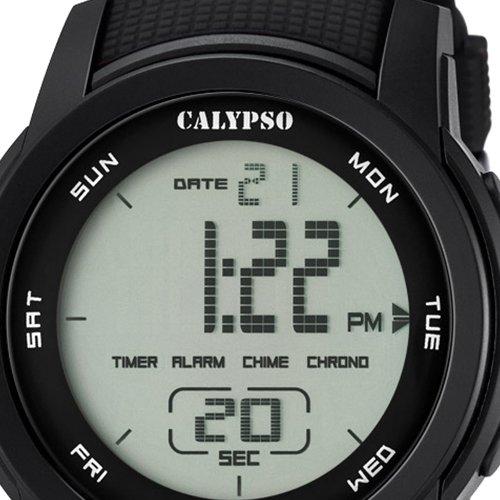 Calypso Herrenarmbanduhr Quarzuhr Kunststoffuhr mit Polyurethanband Alarm-Chronograph digital alle Modelle K5698, Variante:06: Amazon.es: Relojes