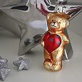 Inge-glas - Christbaumschmuck, Baumschmuck - Herz zu verschenken - 10 cm
