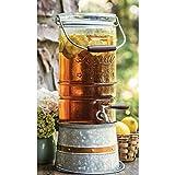 Liberty Glass 2.5 Gallon Glass Beverage Dispenser with Galvanized Steel Frame Vintage