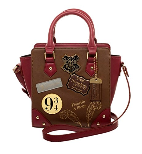 Women's Deluxe Harry Potter Hogwarts Mini 9 3/4 Handbag Purse Train Faux Leather