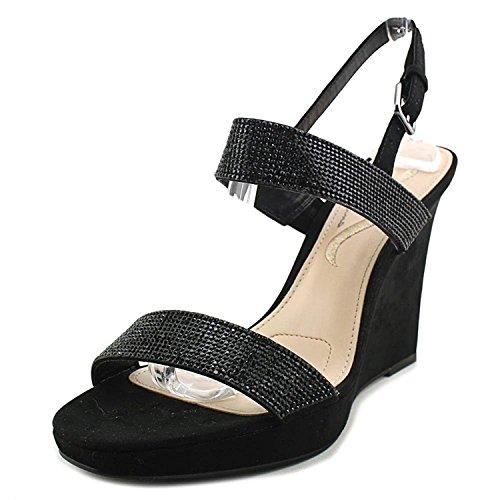 Nina Womens Slingback Shoes - Nina Womens Adila Open Toe Special Occasion Slingback Sandals, Black, Size 7.5