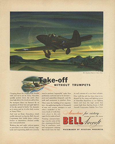Take-off without trumpets Bell P-39 Airacobra ad 1942 for sale  Delivered anywhere in USA