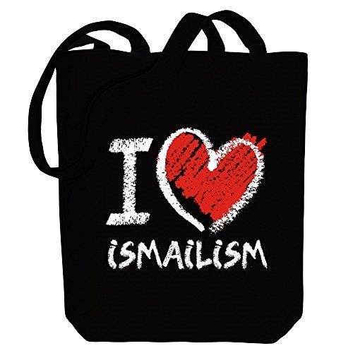 Bag style Tote Ismailism Canvas Idakoos chalk Religions I love U8w8xqO4
