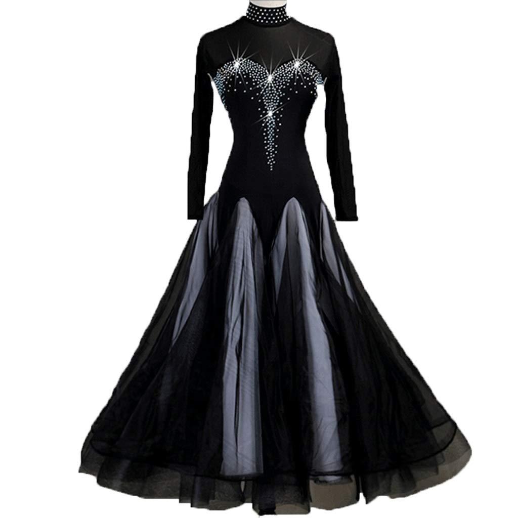 柔らかな質感の モダンダンススカート全国標準のダンスドレス社交ダンスワルツ競技パフォーマンス衣装 B07QMRQ5JM L l|ブラック ブラック ブラック L L l l, タカハギシ:044cb30e --- a0267596.xsph.ru