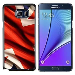 EJOOY---Cubierta de la caja de protección para la piel dura ** Samsung Galaxy Note 5 5th N9200 ** --Bandera del Reino Unido