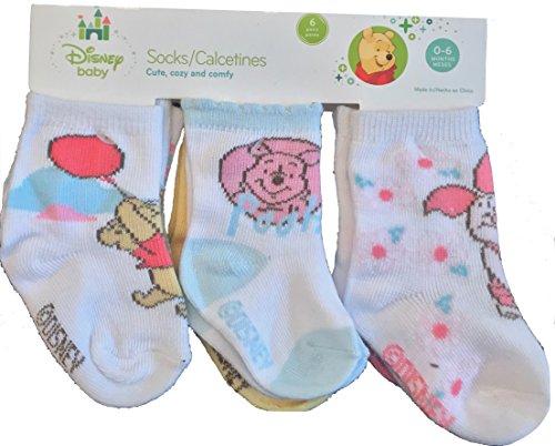 Disney Baby Winnie the Pooh 0-6 Months Baby Novelty (Pooh Socks)