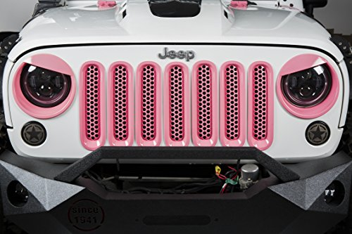 be1c976f u-Box Jeep Wrangler Pink Angry Bird Front Headlight Cover Bezels for  2007-2018