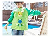 Gelaiken Perfect Cartoon Animal Giraffe Printed Apron Child Pocket (Green,Size:M)