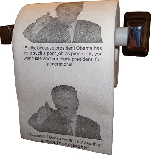Donald Trump Toilet Paper with 9 Mind-Numbing Quotes - Hilarious Novelty Gag Gift by tRUMP Wipes