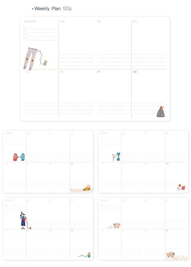 7321 Design LV6775 - Agenda perenne, color blanco: Amazon.es ...