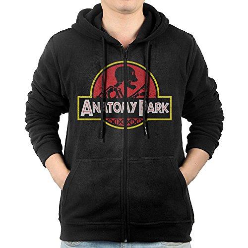 Men Animated Television Series Anatomy Park Rick And Morty Logo Hooded Sweatshirt Black