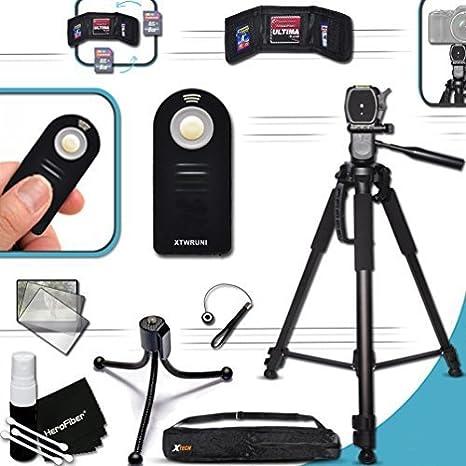 """PRO Grade 72"""" inch TRIPOD + Universal Camera REMOTE Control KIT for Canon  EOS 70D 60D 7D 6D 5D 5DS, 5DS R, 7D Mark II EOS Rebel T6i T6S T5i T4i T3i  T3"""