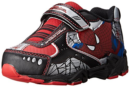 Disney Marvel Spider-Man Athletic 355 Shoe (Toddler/Little Kid), Black, 7 M US Toddler -
