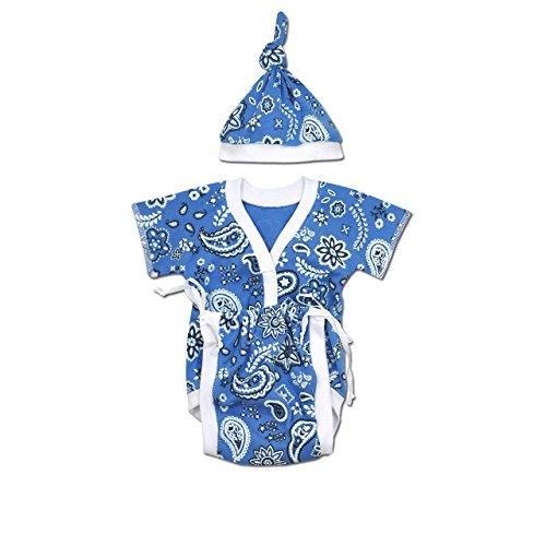 Perfectly Preemie Sweet-Tee - NICU Friendly (Blue Bandana, Teeny (2-4lbs))