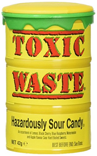 Toxic Waste Hazardously Sour Candy Barrel, 1.7 Ounce