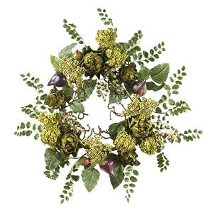 Nearly Natural 4684 Artichoke Floral Wreath, 20-Inch, Multi 39