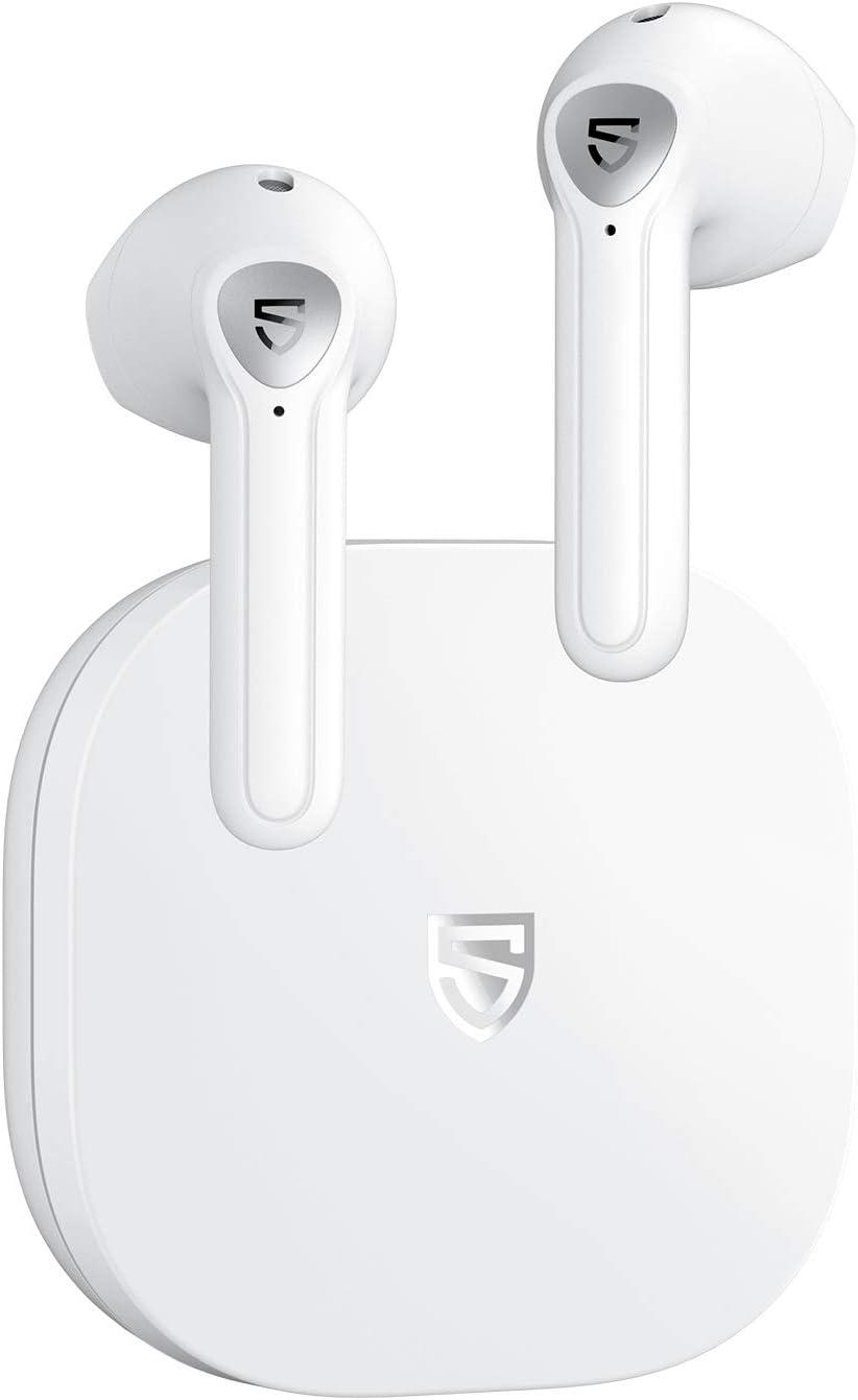 SOUNDPEATS TrueAir2 Auriculares inalámbricos Bluetooth V5.2 Qualcomm3040 TrueWireless Mirroring,Micrófono Dual Cancelación de Ruido CVC Llamadas claras aptX, diseño Semi-in-Ear, 25 Horas