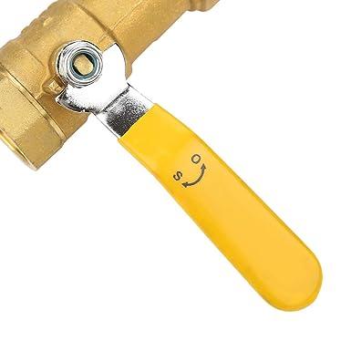 Robinet /à tournant sph/érique en Y de type Val Robinet /à tournant sph/érique /à filtre de tamis en laiton 1 filetage femelle BSP DN25 pour eau-gazole