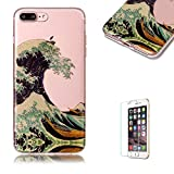 """iPhone 7 Plus 5.5"""" Case [with Free Screen Protector],Funyye Ultra Slim Transparent Crystal Soft Gel Silicone TPU+IMD Case Anti Scratch Protective Case Cover Shell for iPhone 7 Plus 5.5"""" -Spindrift"""