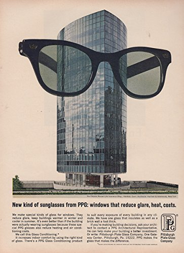 1966 PPG: New Kind of Sunglasses, Windows that Reduce Glare, Pittsburgh Plate Glass Print - Pittsburgh Sunglasses