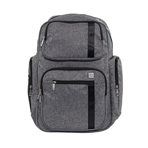JuJuBe Vector Active Backpack/Diaper Dad Bag, XY Collection - Gray Matter