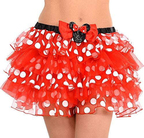 Minnie Mouse Tutu Adults (SUIT YOURSELF Minnie Mouse Tutu for Adults, One Size up to Women's Size Medium, Features Polka Dot Red Tulle and a)