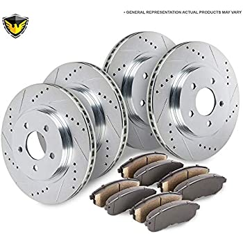 Volvo C70 Drilled BRAKE DISCS 302mm FRONT REAR /& PADS
