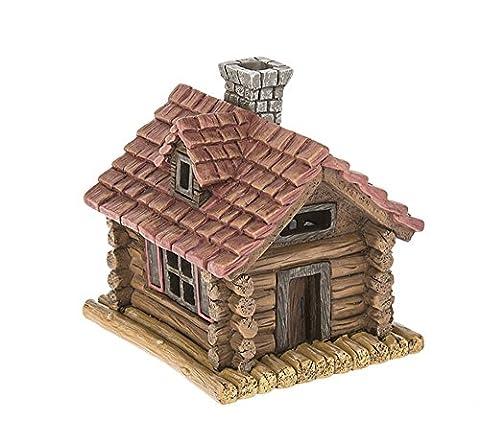 Ganz Home & Garden Fairy Outdoor Collection Light Up Log Cabin Figurine (Kitchen Fairy Nativity)