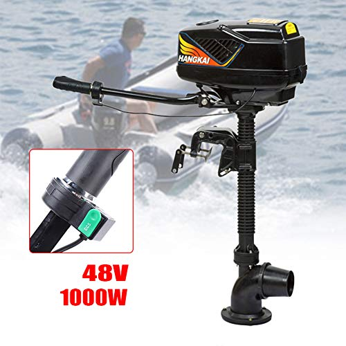 TBVECHI 4.0HP 48V 1000W Electric Outboard Motor Jet Pump Boat Motor Engine Inflatable Fishing Boat Motor Used in Fishing, Aquaculture, Outdoor Adventure, etc