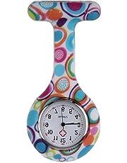 Boolavard® TM Orologio da infermiere in silicone con spilla - orologio tascabile modello 2