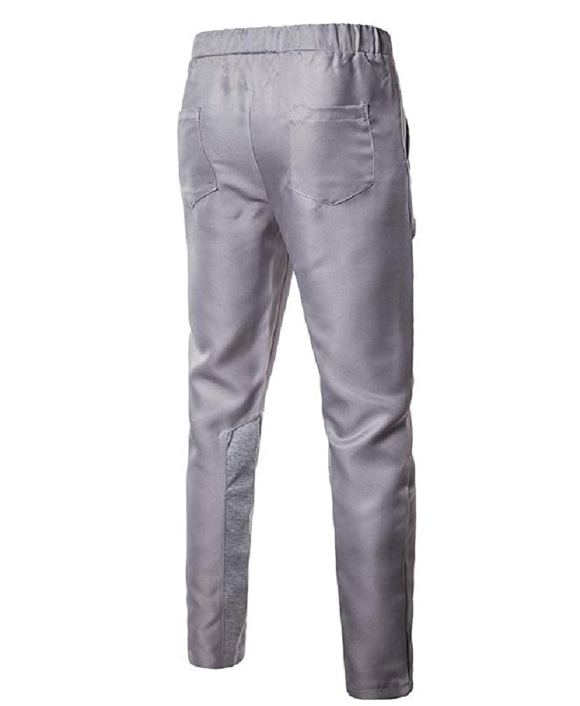 VITryst-Men Casual Loose Classic Wrinkle-Resistant Flat Front Chino Pant