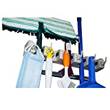 Mop and Broom Holder From Cartin Green, Wall Mount Organizer, Best Tool & Closet Storage, Easy to Install, Holds 5 Tools + 6 Foldable Hooks, Take All the Clutters Off the Floor Now!