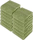 Utopia Towels Premium 252 Pack 700 GSM Cotton Washcloths Bulk– (12 x 12 Inches Face Towels Bulk) Extra Soft Wash Cloths, Sage Green