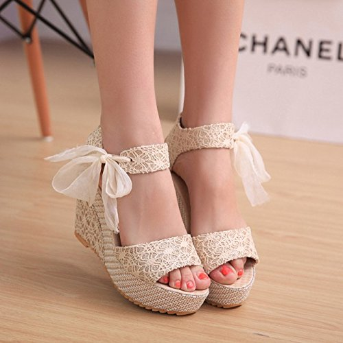 Taiwan Imperméables Gâteau Femmes Chaussures EU40 SHOESHAOGE Heeled Pente Simple High Sandales Bouche Chaussures Un Pour Chaussures Avec Doux Éponge Poisson Chaussures nxx6wPvH