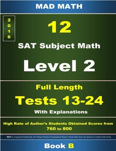 L-2 Tests 13-24 Book B (Mad Math Test Preparation)