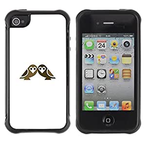 Paccase / Suave TPU GEL Caso Carcasa de Protección Funda para - double birds - Apple Iphone 4 / 4S