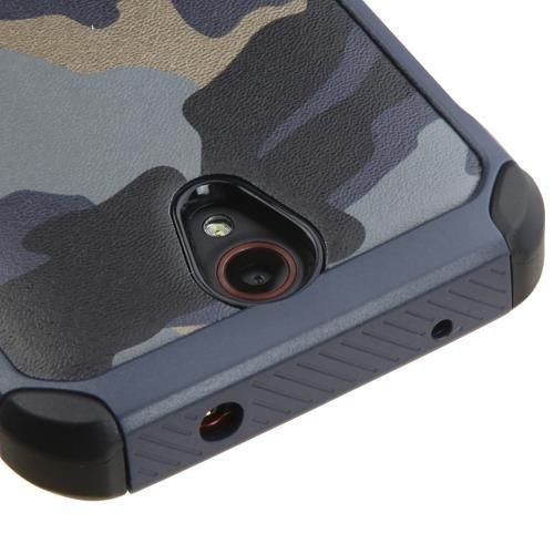ZTE Prestige Case - Armatus Gear (TM) Slim Hybrid Armor Case Dual Layer Shockproof Phone Cover For ZTE Prestige N9132 - Camo Navy Blue