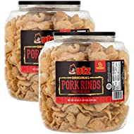Utz Pork Rinds, Original Flavor - Keto Friendly Snack with Zero Carbs per Serving, Light and Airy Chicharrones with the Perfect Amount of Salt, 18 Ounce (Pack of 2)